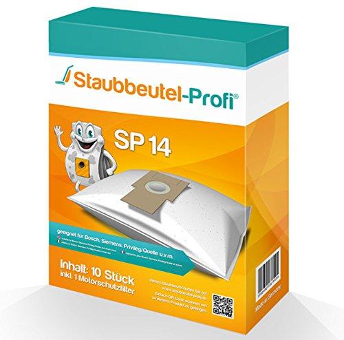 10 Staubsaugerbeutel geeignet für Bosch BSG 81000, BSG81000 Ergomaxx Professional 1000, SP14 von Staubbeutel-Profi® Made in Germany