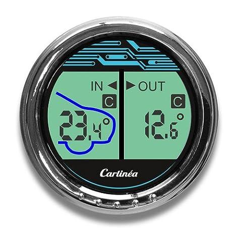 Carlinea 485004 Thermomètre Int / Ext -50° / +50° Hi-Tech - Auto Accessori esterni