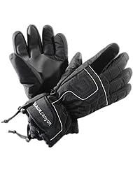 Black Canyon Thinsulate - Guantes para hombre, tamaño S, color negro
