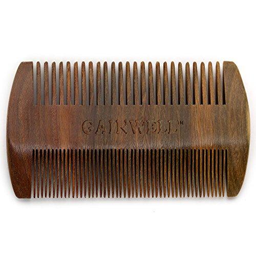 GAINWELL Kamm aus Sandelholz, handgefertigt, antistatisch, Taschenkamm, Bartkamm