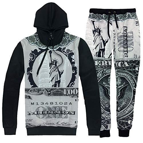 XYL HOME Hoodie,Unisex realistische 3D Liberty Göttin Mode Pullover Set Zweiteilige Hoodie Kapuzen-Sweatshirt, XL -