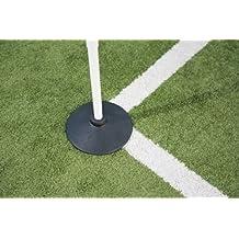 New Precision Football/soccer/hockey Ground Corner Post Rubber Base Only Black