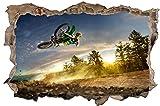 Cross Motorrad Jump Sport Wandtattoo Wandsticker Wandaufkleber D0784 Größe 100 cm x 150 cm