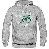 I'm a Celtic #2 Hoodie Basketball Hoodies Play Offs Streetball USA Kapuzenpullover, Farbe:Graumeliert (Greymelange F421);Größe:L
