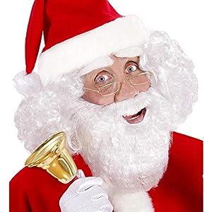 WIDMANN 0782W?barba blanca con bigote, talla única, negro