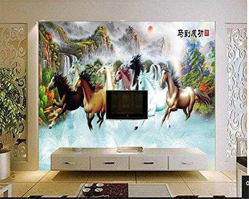 LqwxErweiterte Hintergrundbild Pferd zum Erfolg Landschaftsmalerei Hintergrund Wände Tapeten Home...