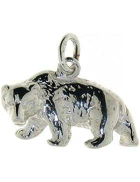Derby Anhänger Bär massiv echt Silber Sterling-Silber 925 - 23054