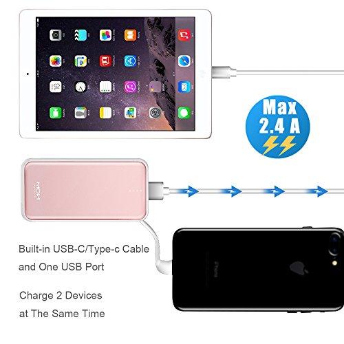 Moxnice Batterie Externe 10000mAh Power Bank Petit Chargeur Portable Rapide  et Portable de Batterie avec USB cb428eaaff1