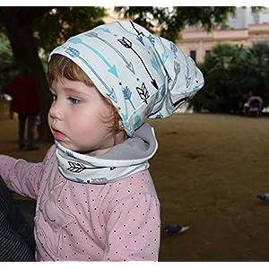 Unisex loop schal und Slouchy Beanie im Set für Neugeborene, Baby, Kleinkind und Kind, handgefertigte verstellbare...