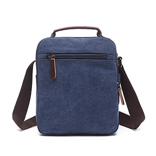 ... Outreo Borse a Spalla Borsetta Tracolla Uomo Vintage Messenger Bag  Sport Borsa Scuola Borsello Tela Sacchetto ... 4b9d1ce7fe6