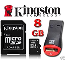 Kingston 8GB Micro SDHC Memory Card for Nokia Lumia 720, Lumia 810, Lumia 820, Lumia 822, Lumia 1520, Lumia 1320, Lumia 2520, Lumia 520, Lumia 525, Lumia 620, Lumia 625 By UkMobileAccessories