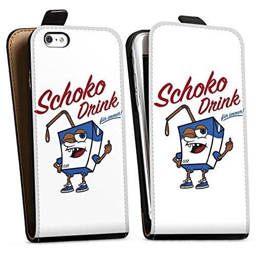 Apple iPhone X Silikon Hülle Case Schutzhülle mir geschiss Spruch Schoko Drink Downflip Tasche schwarz