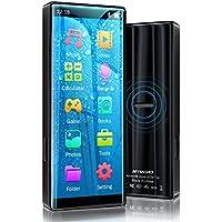MYMAHDI MP3 Player, Alta resolución y Pantalla táctil Completa, Reproductor de Sonido HiFi sin pérdidas con Bluetooth 5.0, Radio FM, grabadora de Voz,admite hasta 128GB, Negro