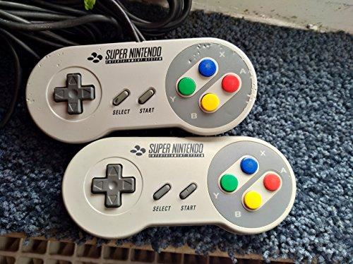 1x Original SNES Super Nintendo Controller, Joypad / Gamepad / Control-Pad / Controlpad (gebraucht, funktioniert, aber in optischem B-Zustand)