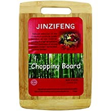 Jinzifeng Eco-Friendly Premium Natural Bamboo / Wooden Kitchen Chopping Cutting Board With Handle Cutlery Accessories