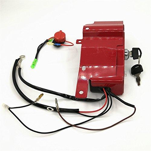 Shioshen Zündschlüssel Ein-/Ausschalter-Box für HONDA GX390 GX340 188F 190F 5KW 6.5KW 11HP 13HP Gas Benzin Generator Motorenteile