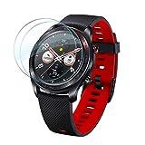 Panzerglas für Huawei Watch GT/GT Active Schutzfolie Zubehör Bildschirmschutzfolie Bildschirmschutz Hartglas Premium Klar 9H Bildschirmfolie - 2 x Bildschirm Glas Folie für Huawei Watch GT