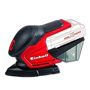 Einhell TE-OS 18 Li Solo – Lijadora múltiple sin cable, 6 papeles abrasivos para madera, 22000 oscilaciónes/min, sin batería/cargador, color rojo y negro