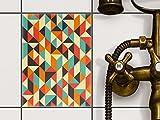 creatisto Küchenfliesen   Klebe-Fliesenaufkleber Fliesen Zum Aufkleben Bad-Folie Wanddeko   15x20 cm Design Motiv Hallucinogen - 1 Stück