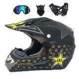 NBZH Double Sport Motocross Casque/Adult MX Off-Road Moto/AM VTT Full Face Casque...