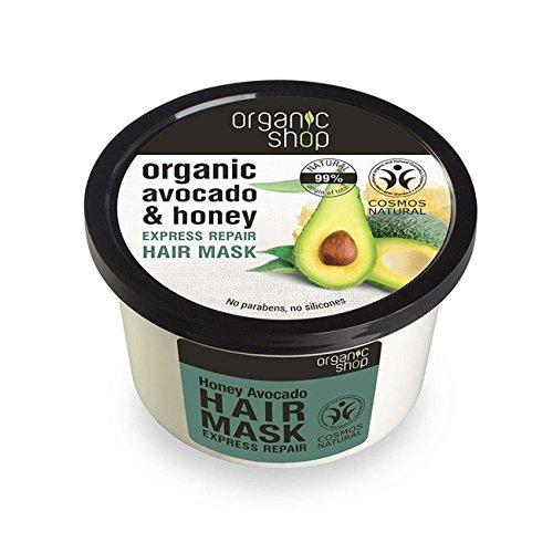 1. Organic Shop - Mascarilla capilar regeneradora de aguacate y miel