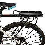 JAUTO Fahrrad Gepäckträger Sattelstütz für Fahrrad, MTB Aluminium Hinten Gepäckträger Mountainbike mit Reflektor