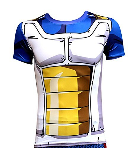 Brinny Klassische Anime Dragon Ball Z Super Saiyan 3D T-Shirt T-Shirt Cartoon Vegeta Armour T, 3 XL