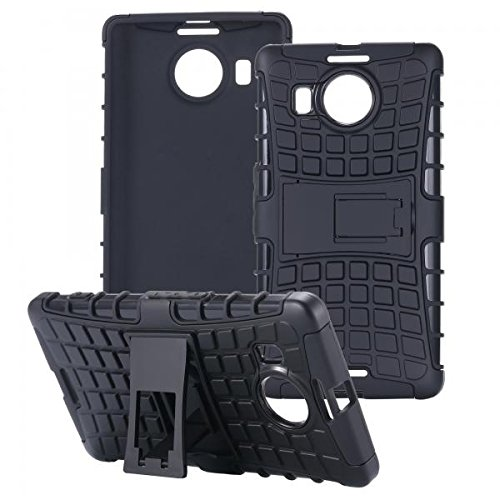 ECENCE Handyhülle Schutzhülle Outdoor Case Cover kompatibel für Microsoft Lumia 950 XL Handytasche Schwarz 21020408
