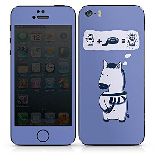 Apple iPhone SE Case Skin Sticker aus Vinyl-Folie Aufkleber Zebra Lustig Comic DesignSkins® glänzend