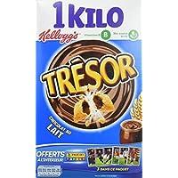 Kellogg's Céréales Trésor Chocolat au Lait 1 kg- Lot de 3