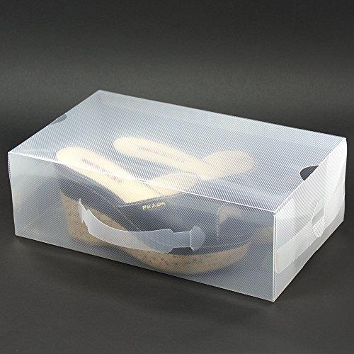H&S - 20cajas de zapatos para mujer, apilables,...