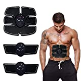 Qualimate Muscle Exerciser Trainer Smart Abs Stimulator Fitness Gym Abs Stickers Pad Body