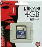Kingston SD4/4GB Memory 4GB SDHC Class 4 Flash Card