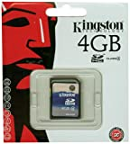 Kingston SD4/4GB Memory 4GB SDHC Class 4 Flash Card