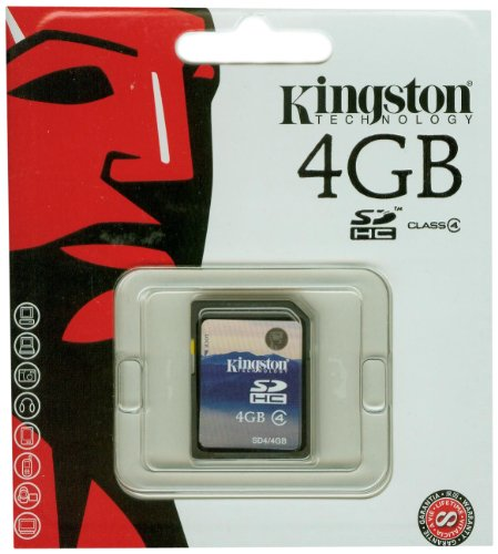 Kingston Speicherkarte SD4/4GB SDHC Klasse 4-4GB (Kingston 4 Gb Sdhc Karte)
