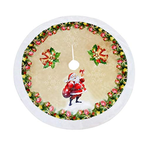 L&Z 98cm Weihnachtsbaum Rock, Gebürstetes Tuch Weihnachtsbaumdecke, Weihnachtsschmuck für...