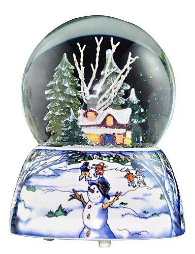 ZQ nevica sfera di cristallo carillon di Natale.