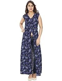 Franclo women's Butterfly full length Dress (Best fit 30-34 bust)