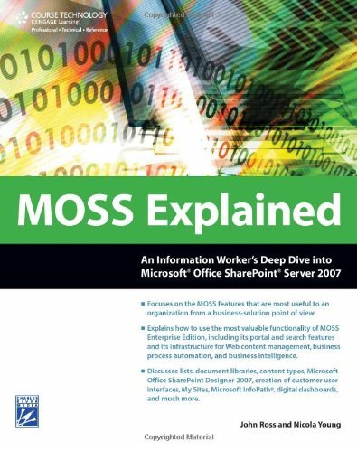 MOSS Explained: An Information Worker's Deep Dive into Microsoft Office SharePoint Server 2007 by John (John Ross) Ross (2009-02-17)