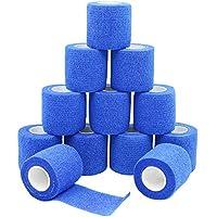 Haftbandage/Selbsthaftende Bandage Erste Hilfe Klebeband Wrap 5cm × 4,5m blau FDA genehmigt–12Stück preisvergleich bei billige-tabletten.eu