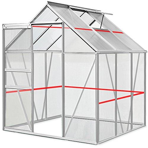Deuba Aluminium Gewächshaus - 5