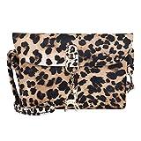 Messenger Bag Sac à main Sac à bandoulière en cuir pour femmes Sac à bandoulière à imprimé léopard
