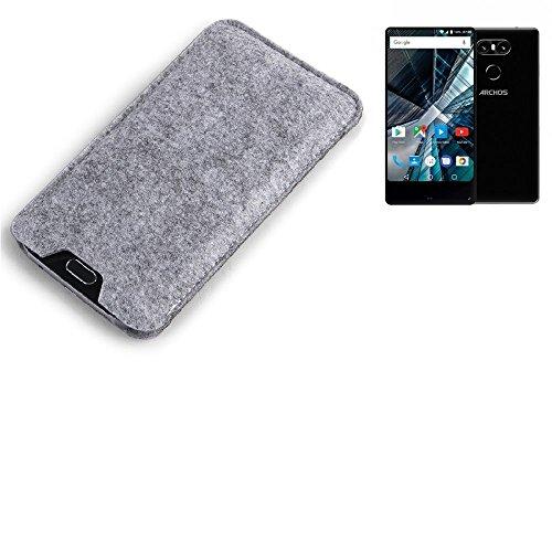 K-S-Trade Filz Schutz Hülle für Archos Sense 55 S Schutzhülle Filztasche Filz Tasche Case Sleeve Handyhülle Filzhülle grau