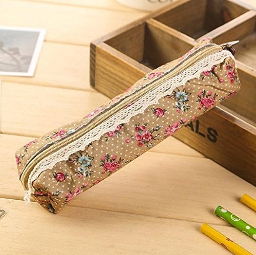 Katara – Estuche para bolígrafos (1 unidad), diseño floral, color rosa