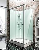Schulte 4060991009877 Cabine de douche, Vert D'eau, 120 x 80 cm