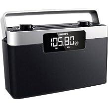 Philips AE2430 - Radio portátil con sintonizador FM, negro