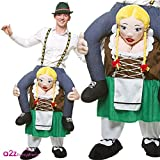 Carry me - Bayrisches Bierkostüm - Bavarian Beer Girl Huckepack