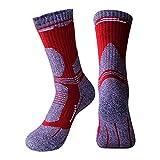 Class-Z Sportsocken Outdoor Bergsteigen Ski Wandersocken Herren Damen Dicke Socken Warm und schnell trocknend Sportsocken, rot, Large