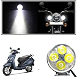 #7: Vheelocityin 4 Led Small Circle Motorcycle Light Bike Fog Lamp Light - 1 Pc For Honda Activa 125