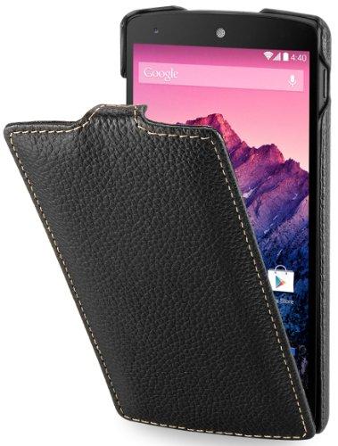StilGut UltraSlim Case, Tasche aus echtem Leder für Google Nexus 4 / LG E960, Schwarz